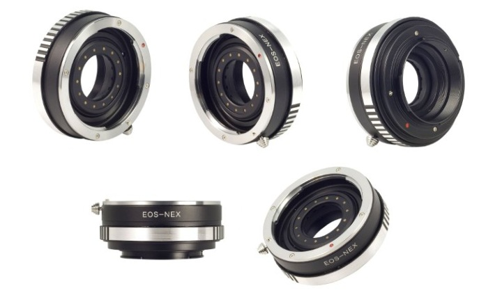 Manual only canon EOS EF lens to Sony NEX E-mount adaptors
