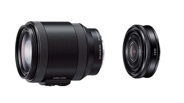 Sony add a new 20mm pancake lens and a 18-200mm OSS power zoom lens for cinematographer types